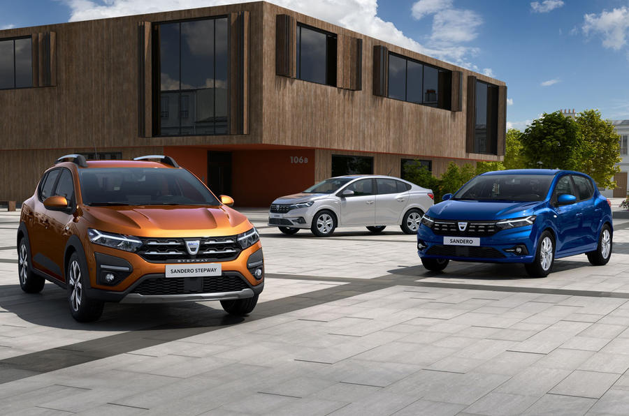 Dacia Sandero 2021 official images - with Logan