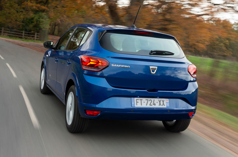 Dacia Sandero 2021 UK official images - rear