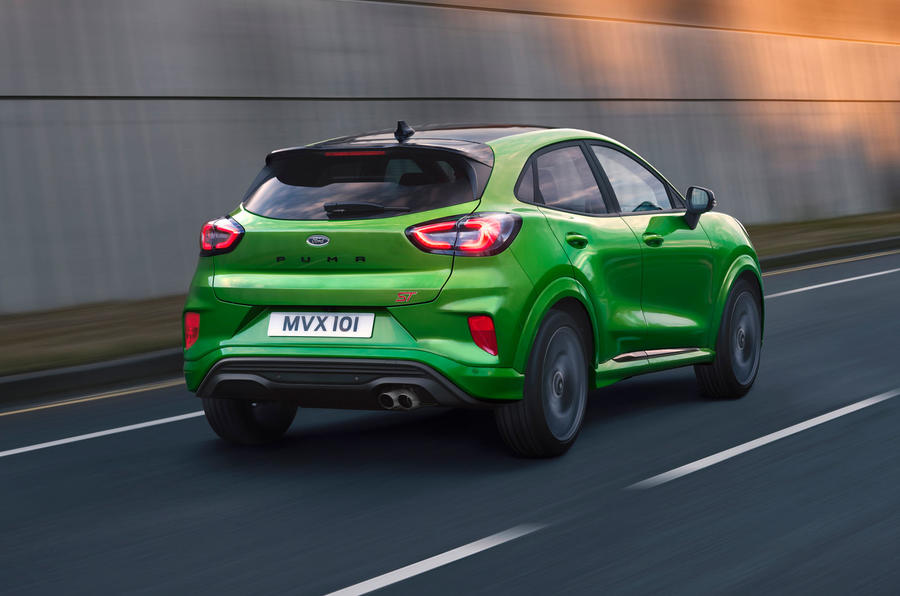 Ford Puma ST official images - tracking rear
