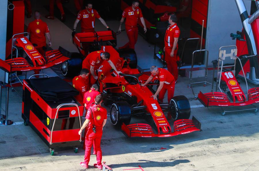 Holding a Grand Prix during a pandemic - Ferrari pits