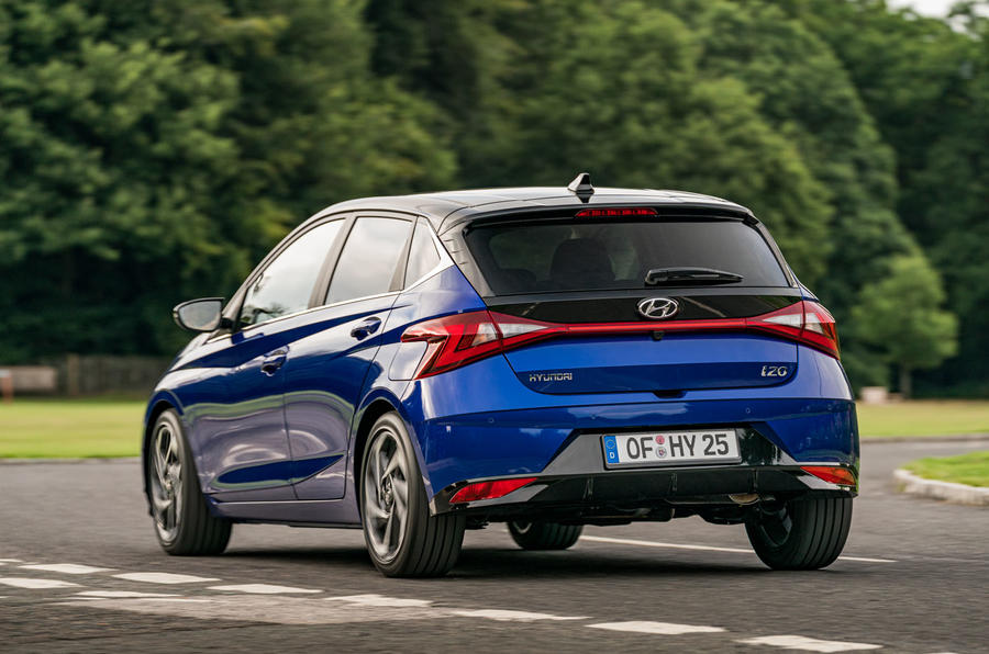 Hyundai i20 2020 prototype drive - hero rear