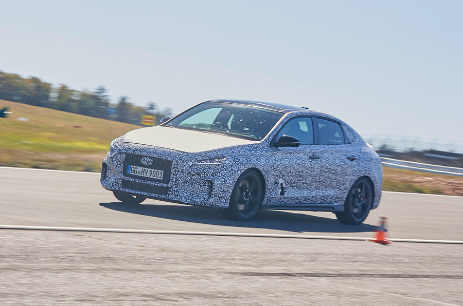 2021 Hyundai i30 Fastback N prototype drive - cornering right