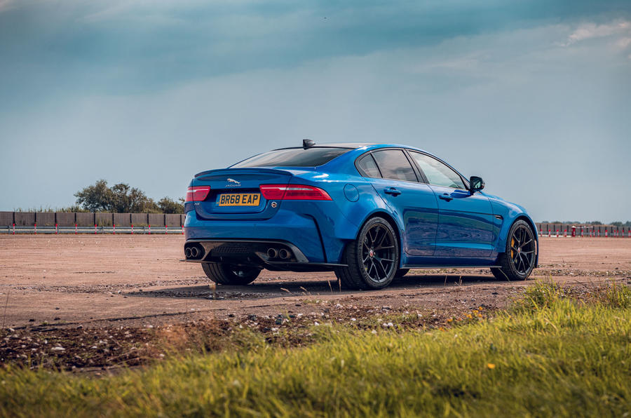 Jaguar XE SV Project 8 Touring 2019 UK first drive review - static rear