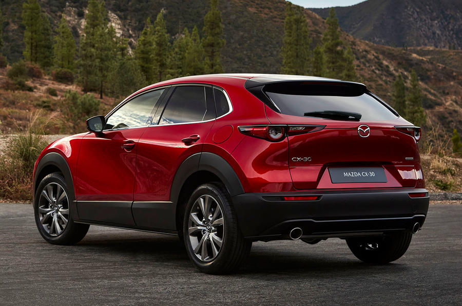 Mazda CX-30 2019 Geneva motor show reveal - hero rear