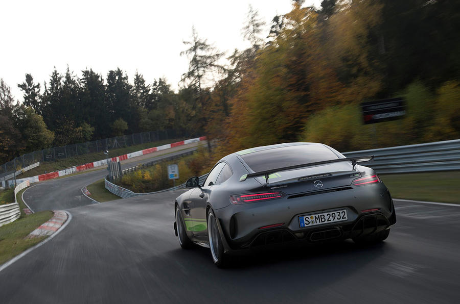 Mercedes-AMG GT R Pro 2018 LA motor show reveal - track rear