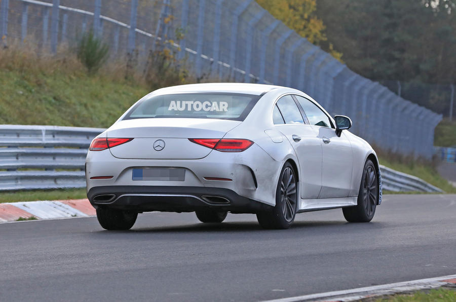 2021 Mercedes-Benz CLS spy photos - tracking rear