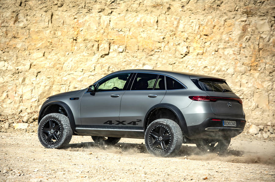 Mercedes-Benz EQC 4X4² concept revealed - hero rear