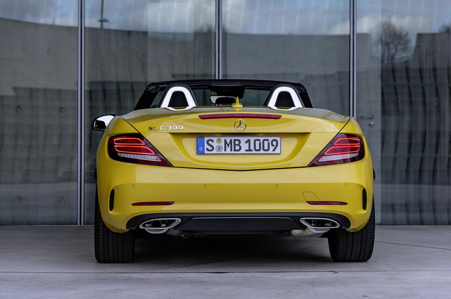 Mercedes-Benz SLC final edition official press - hero rear