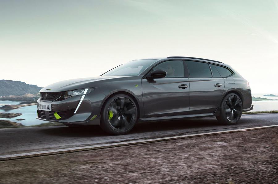 Peugeot 508 PSE estate official images - tracking front