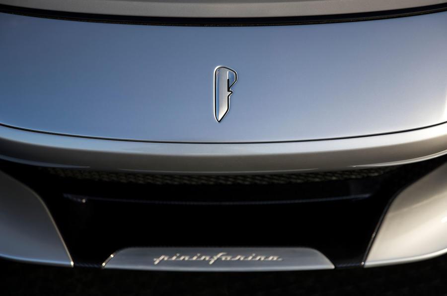 Pininfarina Battista customer preview event - front badge