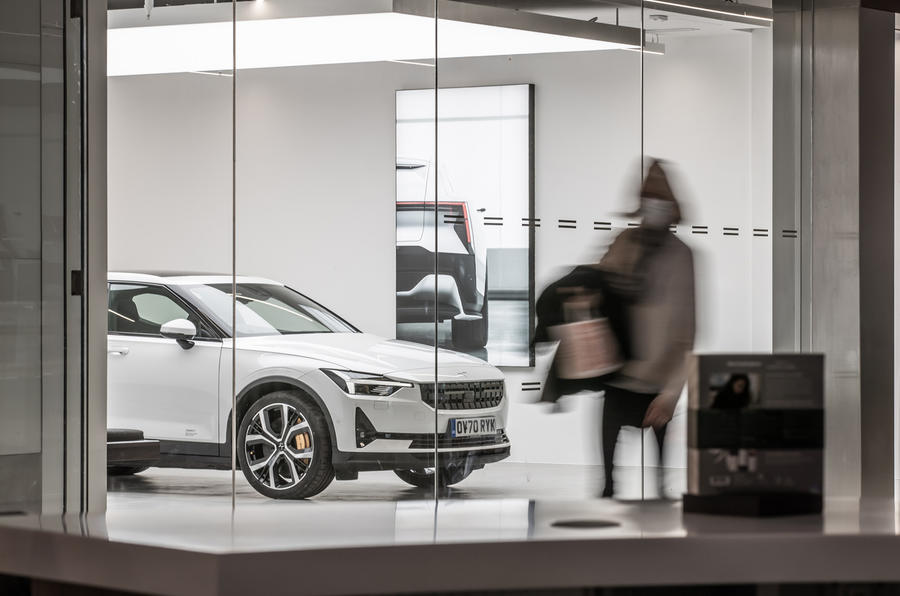 Polestar Space London opening official images - passer by