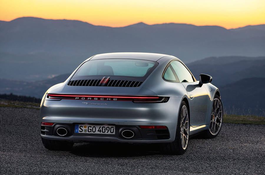 2019 Porsche 911 official reveal - press still rear