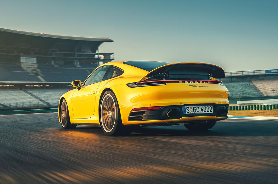 2019 Porsche 911 Carrera S track drive - hero rear