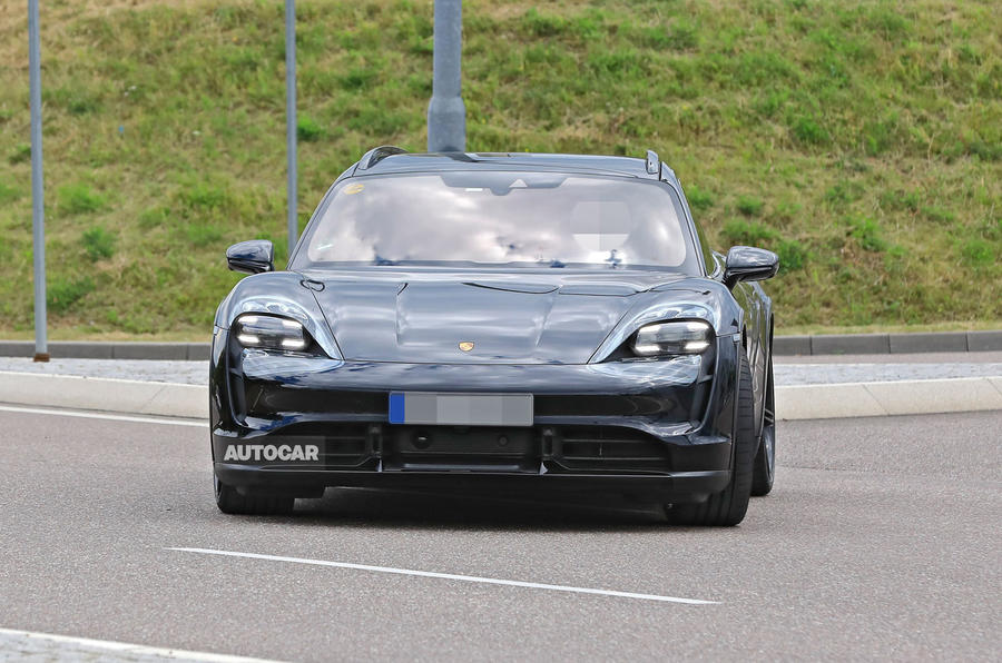 Porsche Taycan Cross turismo spy images - nose