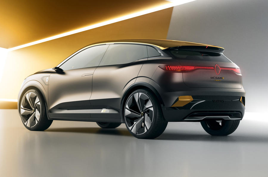 Renault Megane eVision concept official images - studio rear