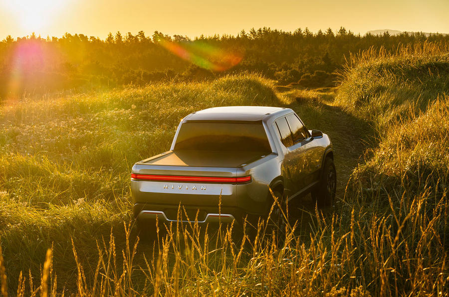 Rivian R1T electric pick-up reveal - hero rear