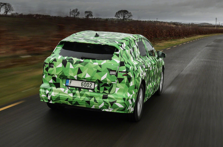 2020 Skoda Enyaq prototype first drive - tracking rear