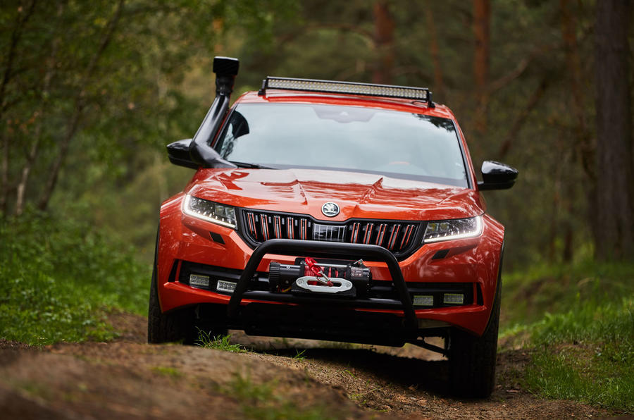 Skoda Mountiaq concept first drive review - offroad front