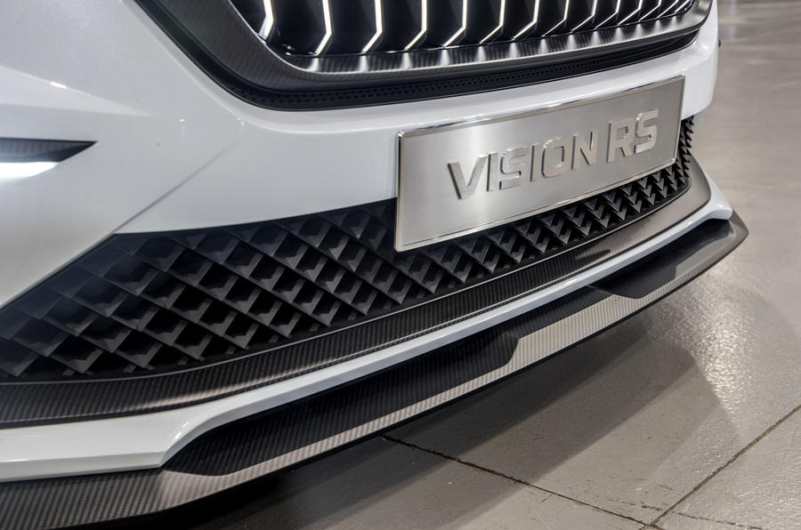 Skoda Vision RS concept drive - front bumper
