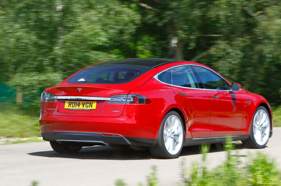 Tesla Model S road test rewind - hero rear