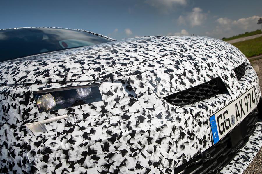 Vauxhall Corsa 2019 prototype drive - bonnet