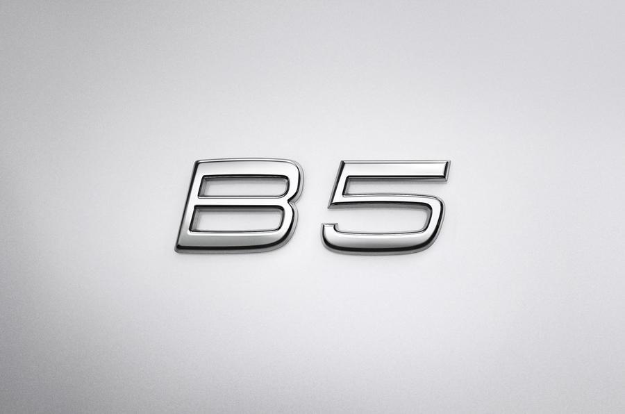 Volvo XC90 2019 refresh official press - B badge