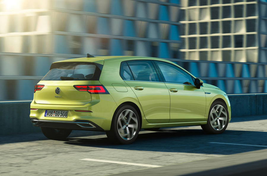 2020 Volkswagen Golf Mk8 official press - hero rear
