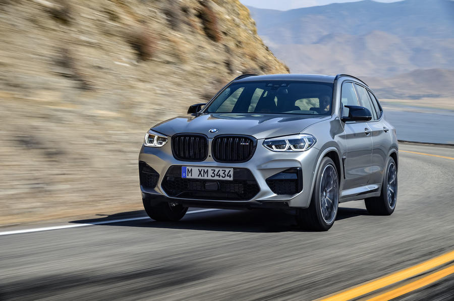 BMW X3M official press - on the road front