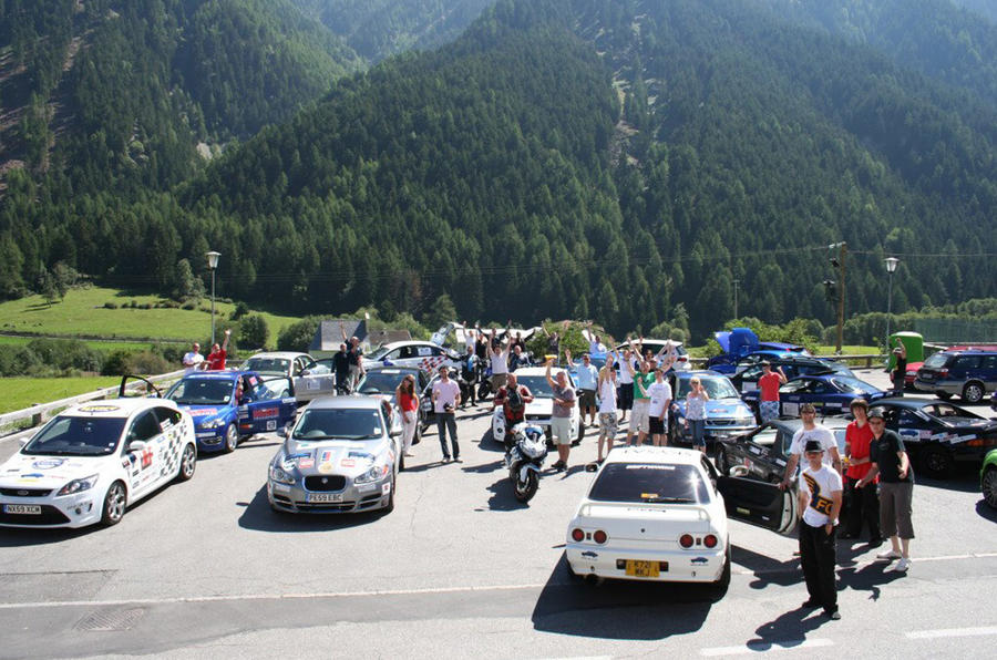 Rally for Heroes - break at Swiss border