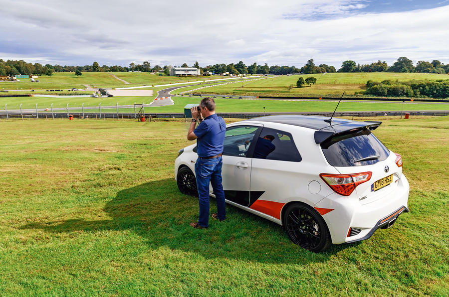 2019 Wales Rally GB preview in a Yaris GRMN - surveying track