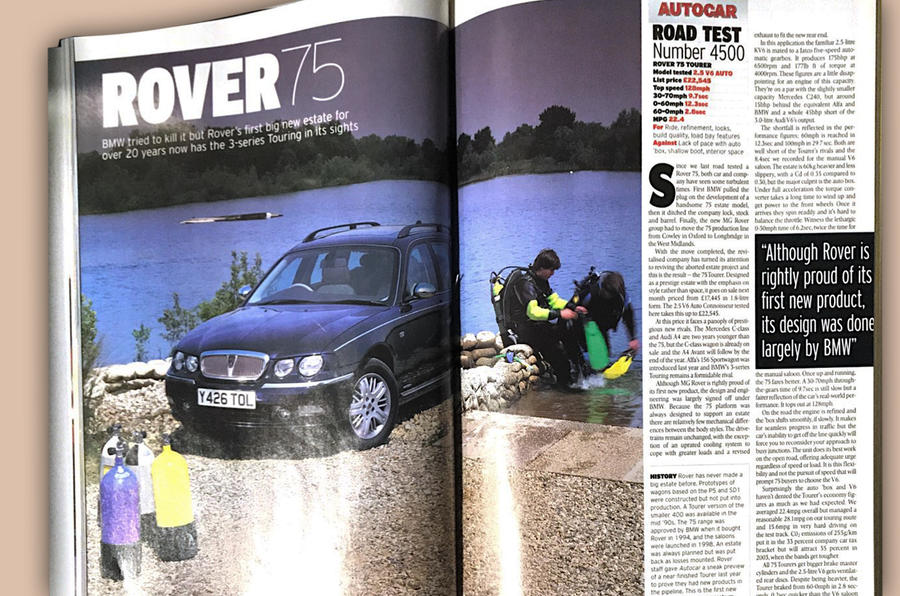 5500 road tests and counting - Rover 75 page 1