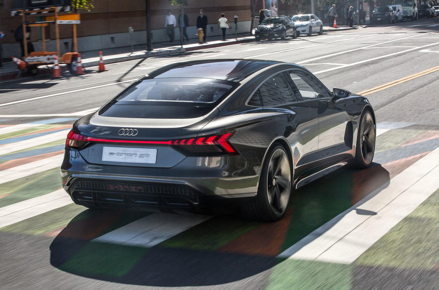 Audi E-tron GT concept 2020 prototype first drive review - hero rear