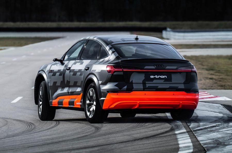 Audi E-tron S Sportback prototype drive - slide rear