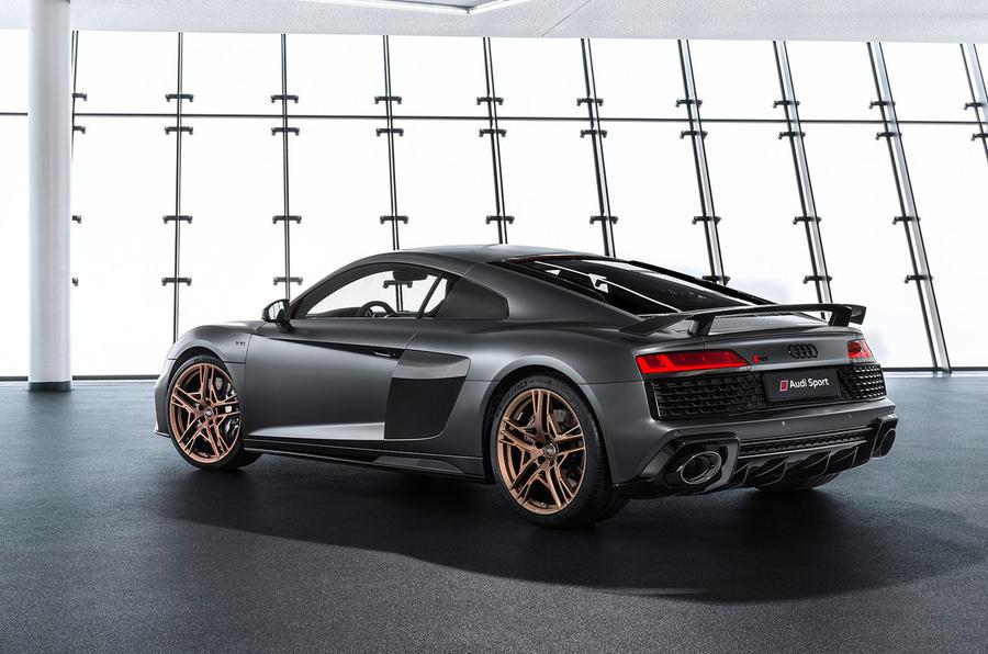 Audi R8 V10 Decennium official press images - hero rear