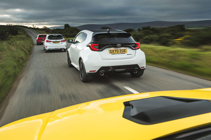Britain's best affordable drivers car 2020 - tracking rear