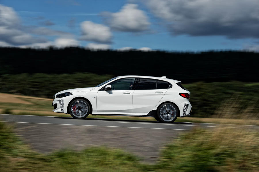 BMW 1 Series 128ti prototype 2020 first drive review - hero side