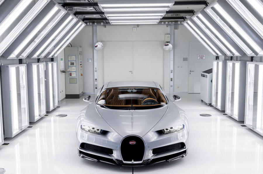 Bugatti factory paint room