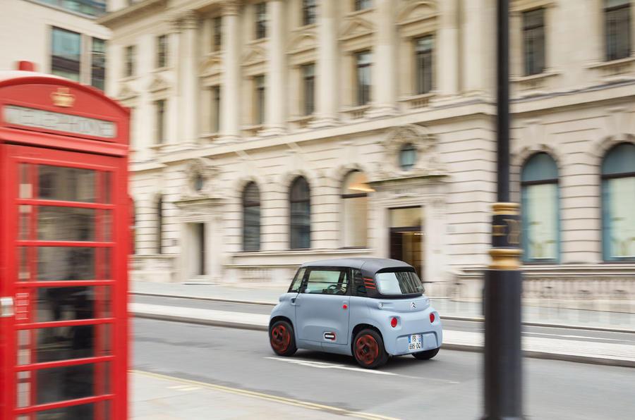 Citroen Ami (LHD) 2020 UK first drive review - hero rear