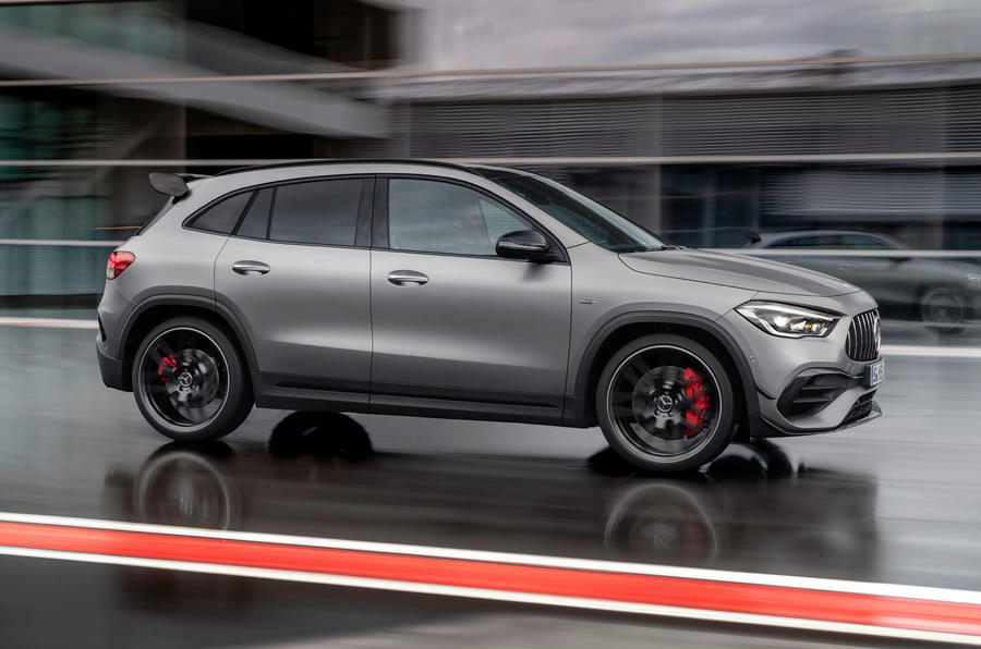 Mercedes-AMG GLA 45 S 2020 official press images - hero side