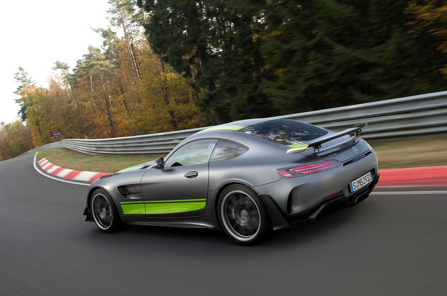 Mercedes-AMG GT R Pro 2018 LA motor show reveal - hero rear