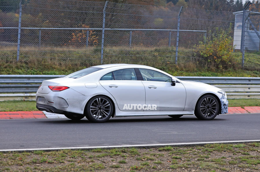 2021 Mercedes-Benz CLS spy photos - tracking side