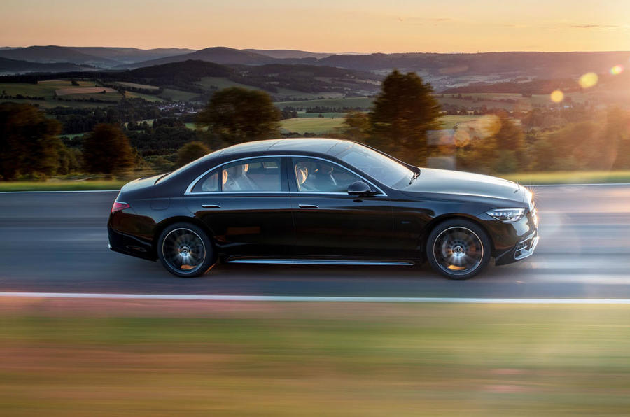 2021 Mercedes-Benz S-Class official reveal images - tracking side