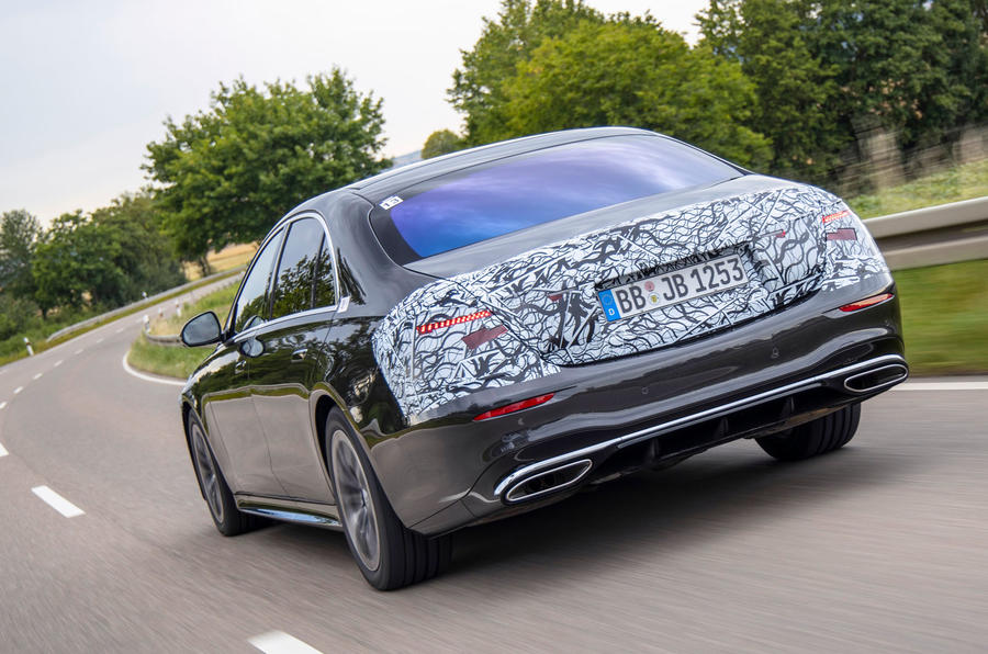 2020 Mercedes-Benz S-Class prototype ride - hero rear
