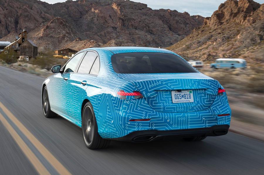 Mercedes-Benz E-Class 2020 prototype ride - tracking rear