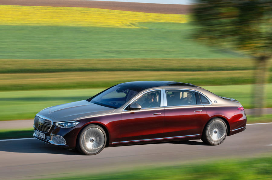 2021 Mercedes-Maybach S-Class official images - hero side