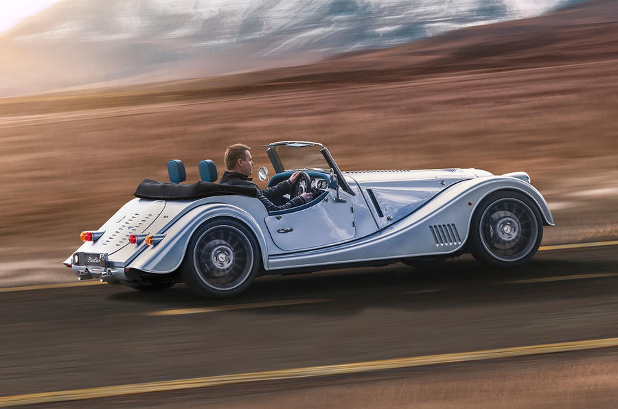 Morgan Plus Six 2019 official press images - hero rear