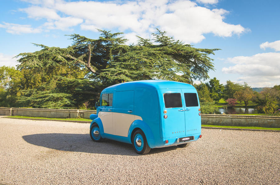 Morris JE electric van official images - static rear