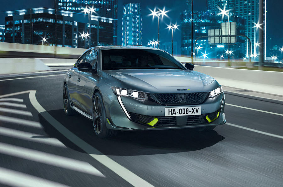 Peugeot 508 PSE official images - cornering front
