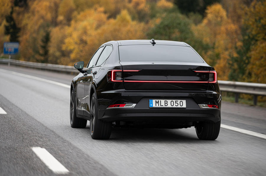 2020 Polestar 2 prototype drive - hero rear
