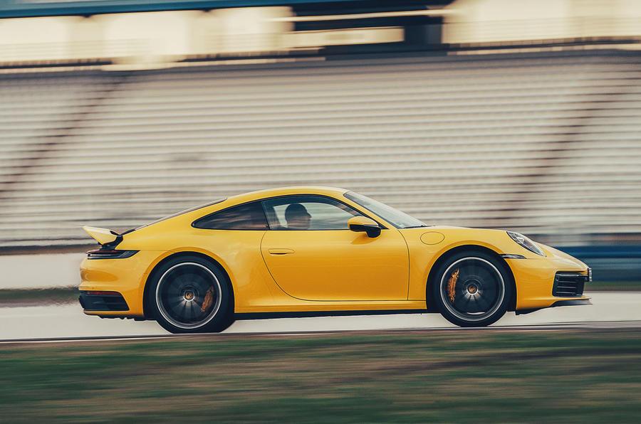 2019 Porsche 911 Carrera S track drive - hero side